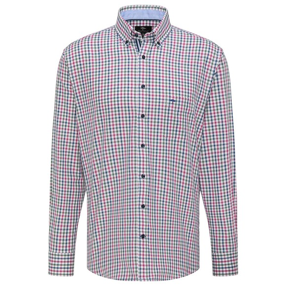 Fynch Hatton Mens Pink Twill Combi Check