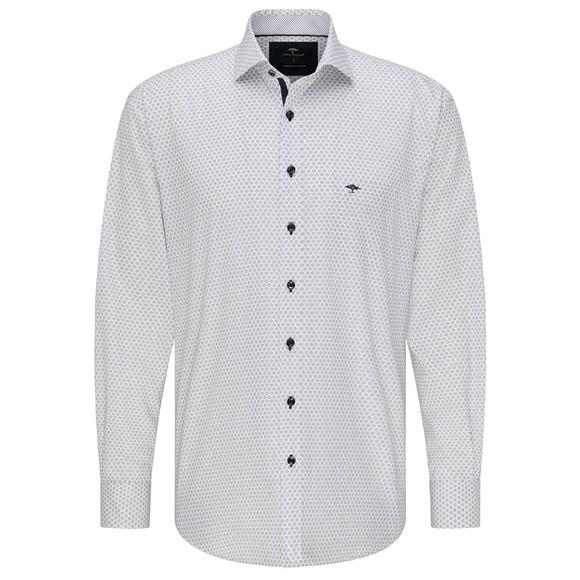 Fynch Hatton Mens White Flower Print Shirt