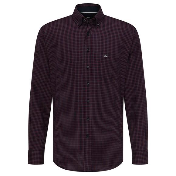 Fynch Hatton Mens Blue Twill Combi Shirt