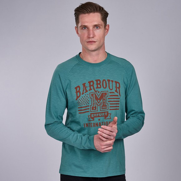 Barbour Int. Steve McQueen Mens Green Tanner L/S T-Shirt