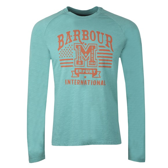 Barbour Int. Steve McQueen Mens Green Tanner L/S T-Shirt main image
