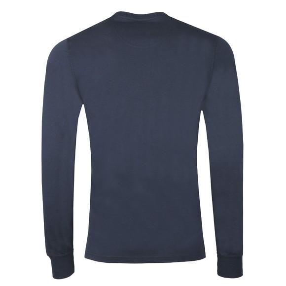 Barbour Beacon Mens Blue L/S Tartan Pocket T-Shirt main image