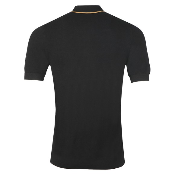 Fred Perry Mens Black Tipped Knitted Polo Shirt main image