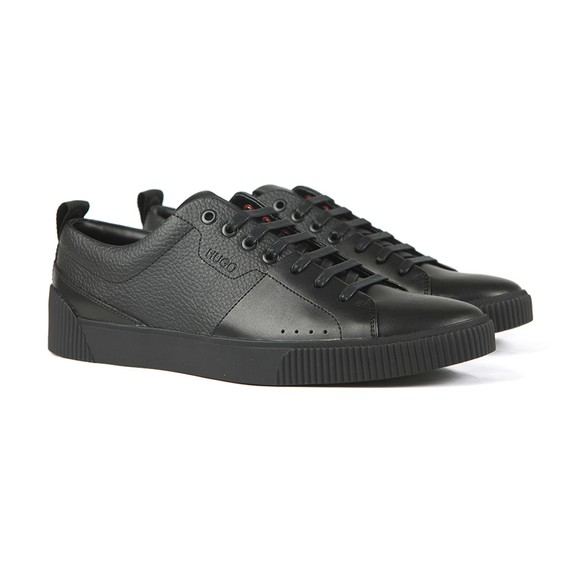 HUGO Mens Black Zero Grain PLGR Trainer