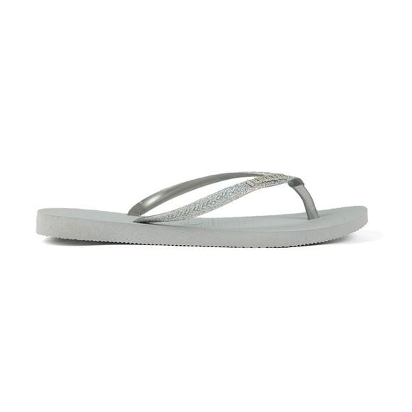 Havaianas Womens Grey Slim Glitter Flip Flop