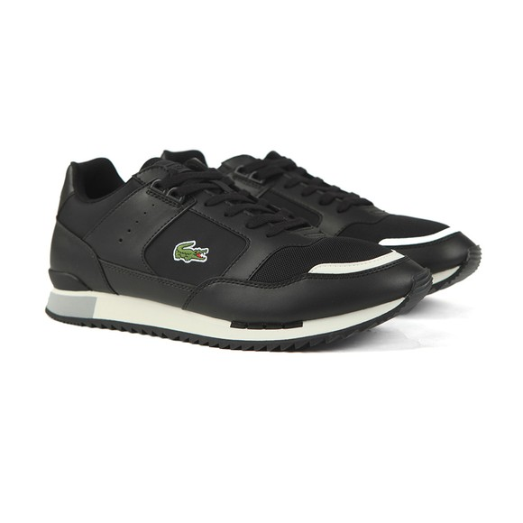 Lacoste Mens Black Partner Piste Trainer