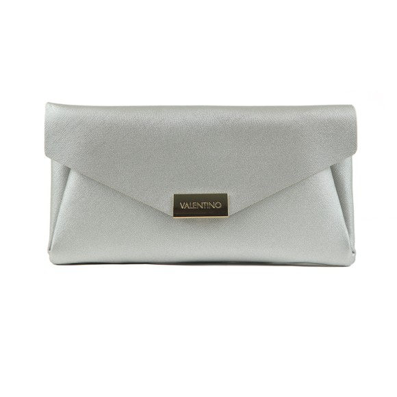 Valentino by Mario Womens Silver Appie Clutch Bag