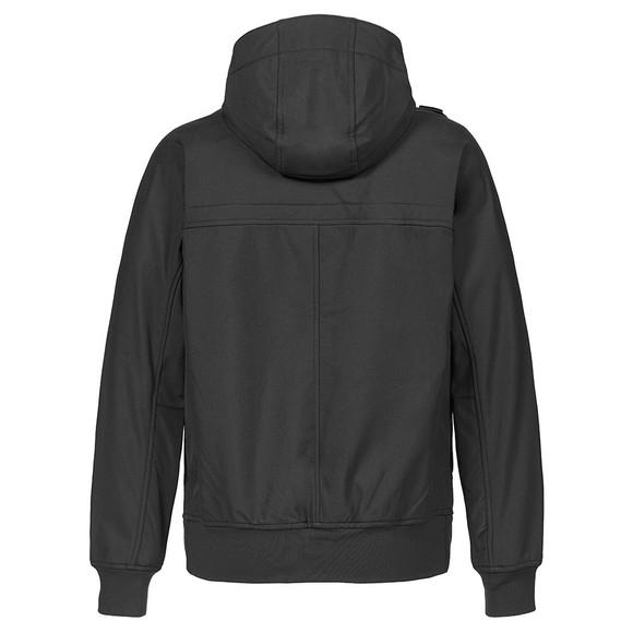 Ma.Strum Mens Black Full Zip Hooded Soft Shell Jacket