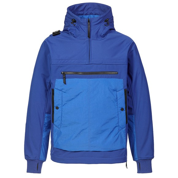 Ma.Strum Mens Vibrant Blue Overhead Softshell Jacket