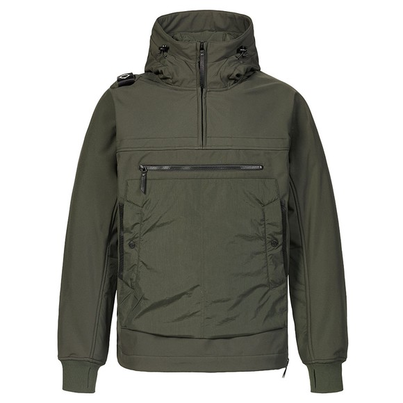 Ma.Strum Mens Green Overhead Softshell Jacket