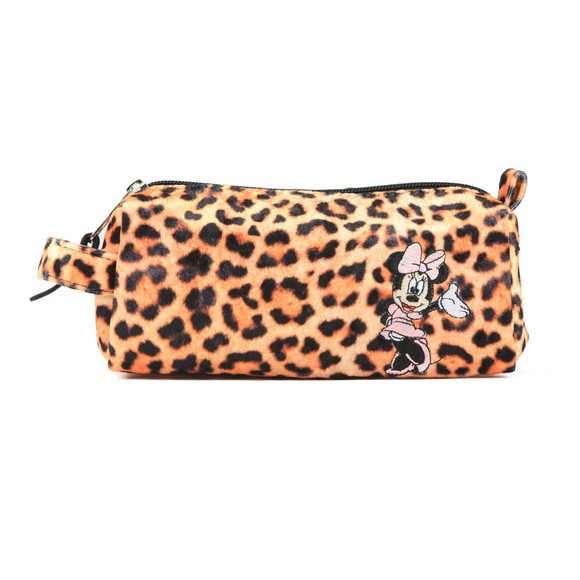 Hype Girls Black Minnie Leopard Pencil Case