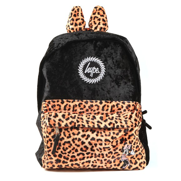 Hype Girls Black Minnie Leopard Backpack