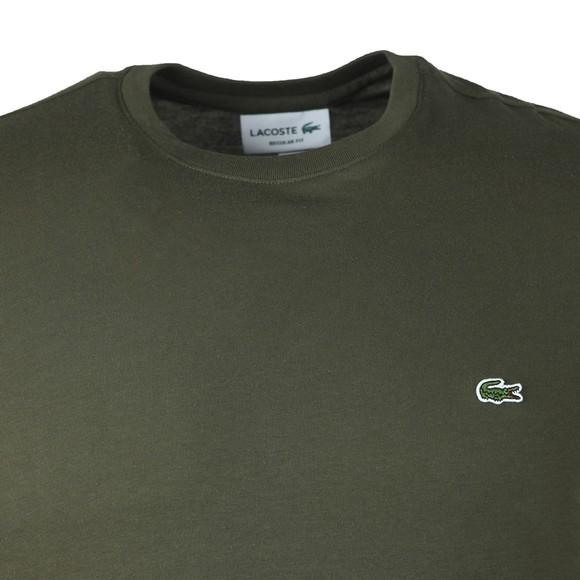Lacoste Mens Green TH2038 Plain T-Shirt main image