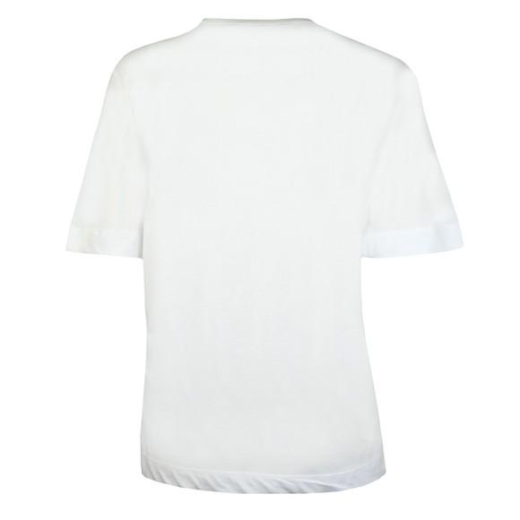 Love Moschino Womens White Curved Logo T Shirt main image