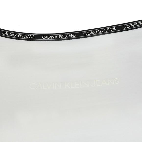 Calvin Klein Jeans Womens White Short Sleeve Bardot