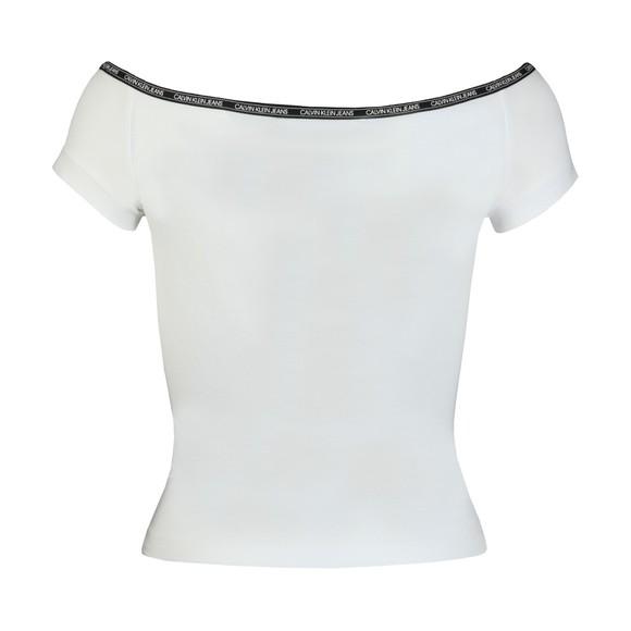 Calvin Klein Jeans Womens White Short Sleeve Bardot main image