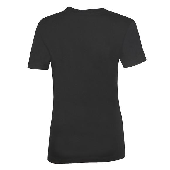 Calvin Klein Jeans Womens Black Iridescent Metallic Logo T Shirt main image