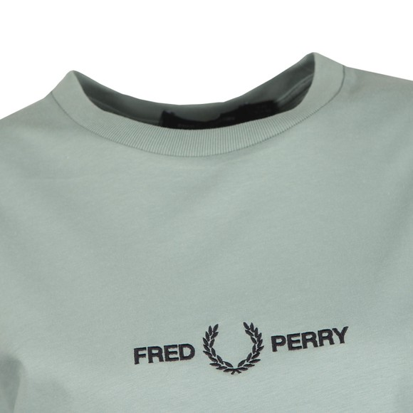 Fred Perry Womens Blue Embroidered T-Shirt