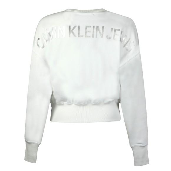 Calvin Klein Jeans Womens White Institutional Back Logo Sweatshirt main image