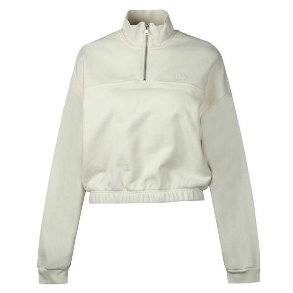 Levi's ® Womens Off-White POM Quarter Zip Sweatshirt