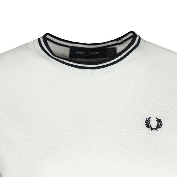 Fred Perry Womens Off-White Twin Tipped Pique T-Shirt