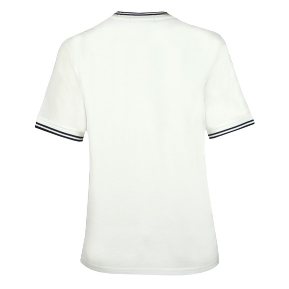 Fred Perry Womens Off-White Twin Tipped Pique T-Shirt main image