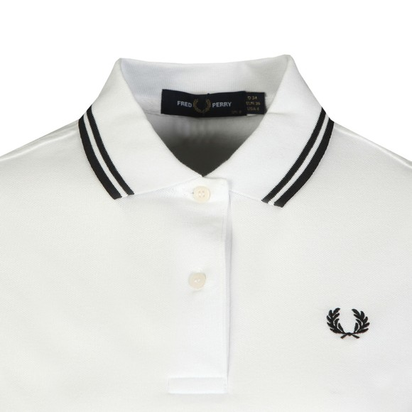 Fred Perry Womens White Twin Tipped Polo Shirt