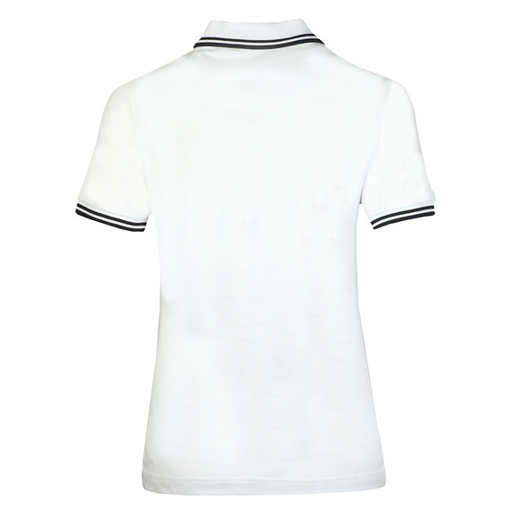 Fred Perry Womens White Twin Tipped Polo Shirt  main image