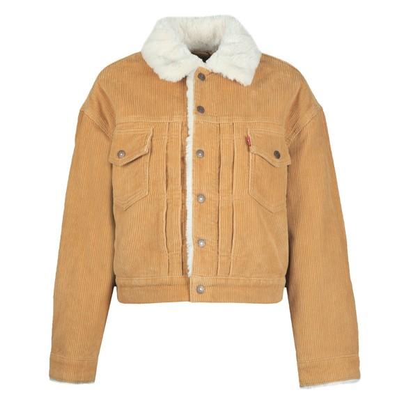 Levi's Womens Brown Heritage Cord Trucker Jacket