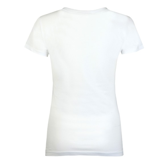 Love Moschino Womens White Rainbow Heart T Shirt main image