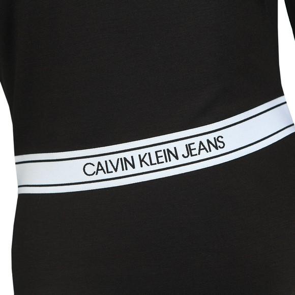 Calvin Klein Womens Black Asymmetric Logo Milano Bodysuit