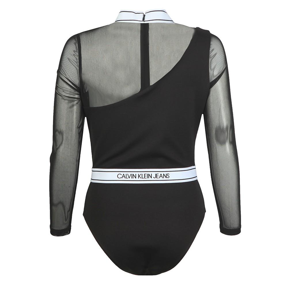Asymmetric Logo Milano Bodysuit main image