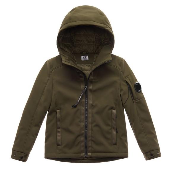 C.P. Company Undersixteen Boys Green Viewfinder Shell Jacket