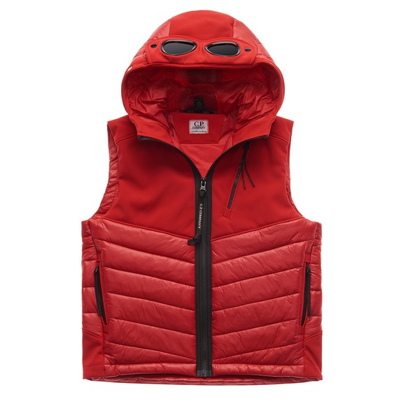 C.P. Company Undersixteen Boys Red Mixed Fabric Shell Gilet main image