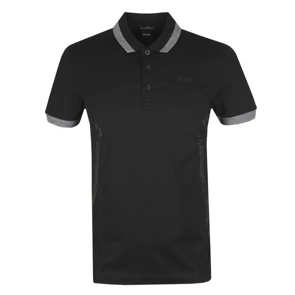 BOSS Mens Black Athleisure Paule 8 Polo Shirt