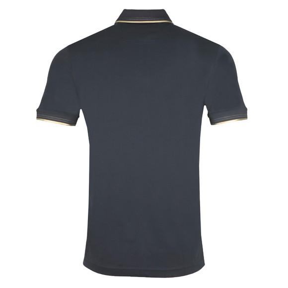 BOSS Mens Blue Athleisure Paul Curved Polo Shirt main image