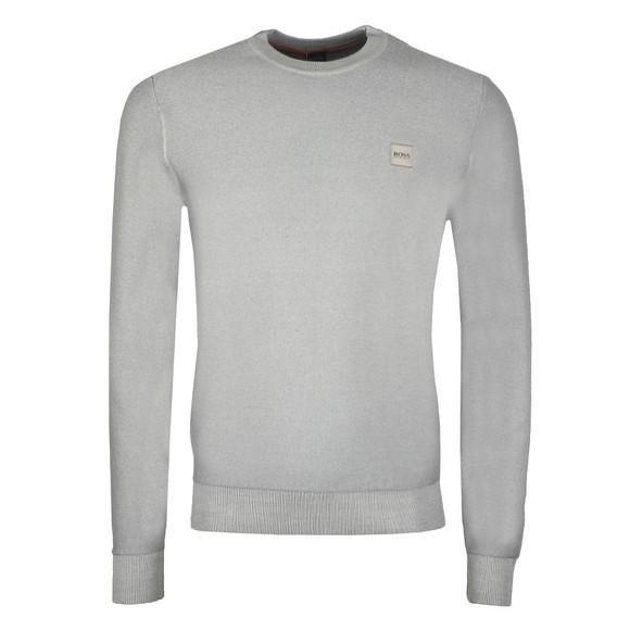 BOSS Mens Grey Casual Anitoba Round Neck Sweatshirt