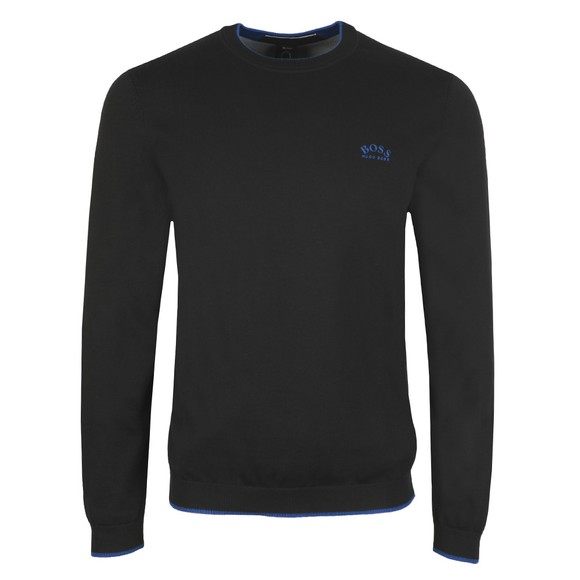 BOSS Mens Black Athleisure Riston Knitted Jumper
