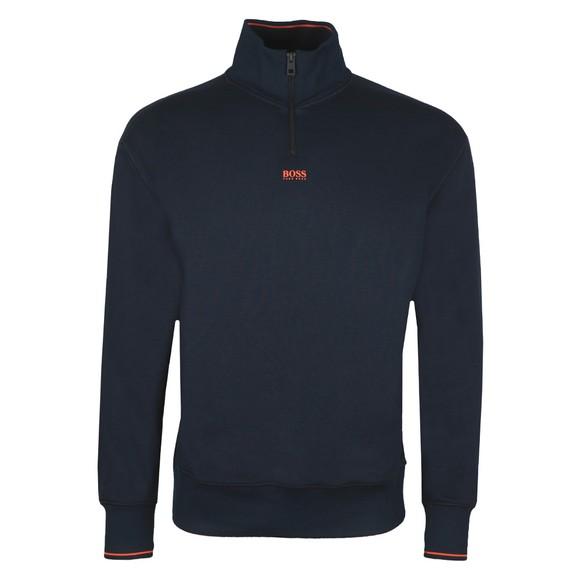 BOSS Mens Blue Casual ZPitch Half Zip Sweatshirt