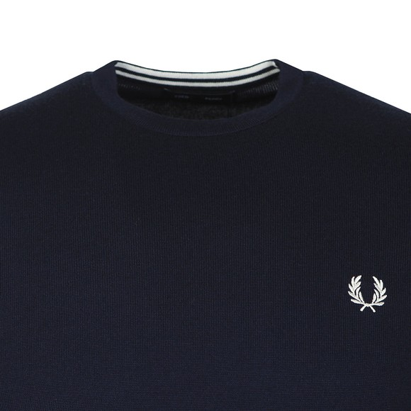 Fred Perry Mens Blue Classic Crew Neck Jumper main image