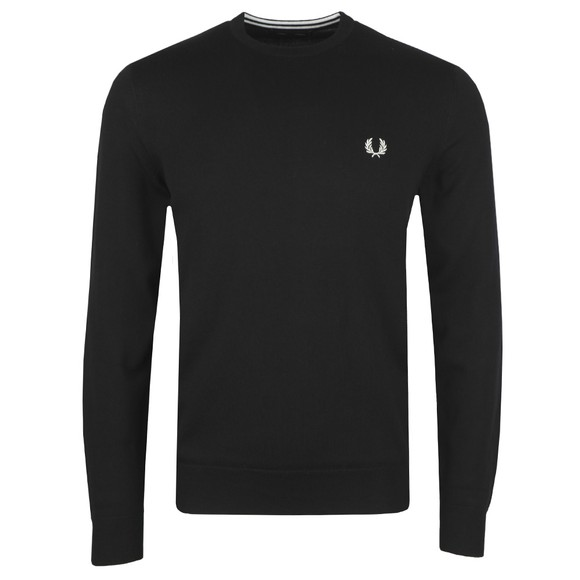 Fred Perry Mens Black Classic Crew Neck Jumper