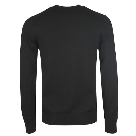 Fred Perry Mens Black Classic Crew Neck Jumper main image