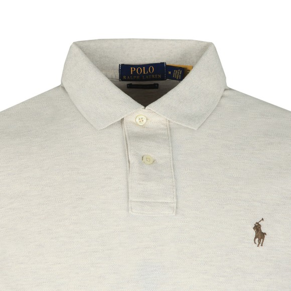 Polo Ralph Lauren Mens Grey Custom Slim Fit Short Sleeve Polo Shirt