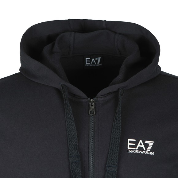 EA7 Emporio Armani Mens Blue Full Zip Hooded Sweatshirt