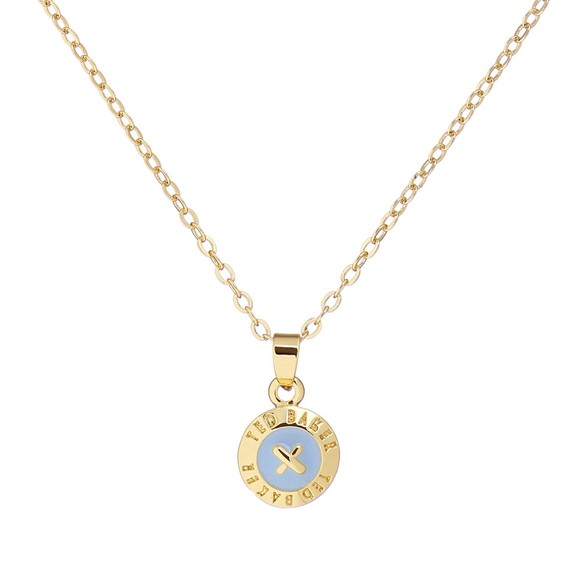Ted Baker Womens Gold Elvina Enamel Mini Button Pendant