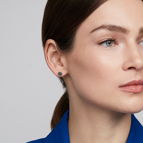 Ted Baker Womens Blue Sinaa Crystal Stud Earrings