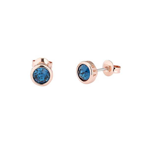Ted Baker Womens Blue Sinaa Crystal Stud Earrings