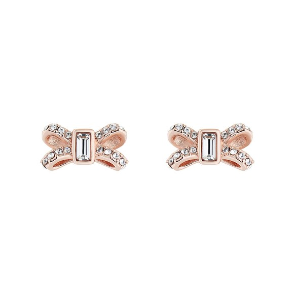 Ted Baker Womens Pink Sabla Crystal Sparkle Bow Earring