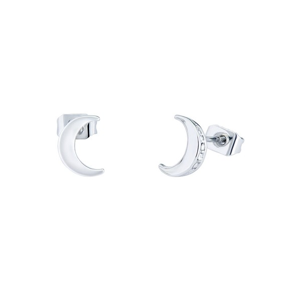 Ted Baker Womens Silver Marlyy Crescent Moon Stud Earring