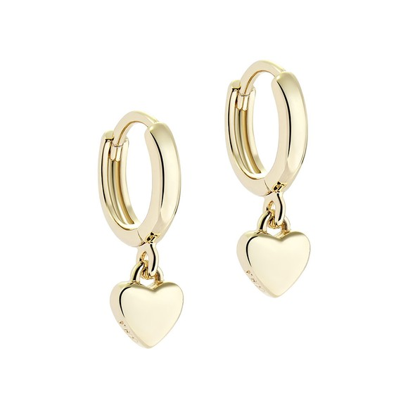 Ted Baker Womens Gold Harrie Tiny Heart Huggie Earring main image